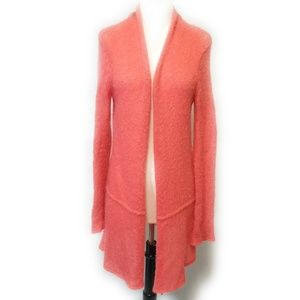 WOODEN SHIPS Coral Fuzzy Open Knit Cardigan Size M